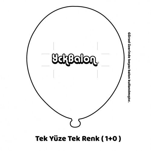 Tek Yüze Tek Renk Baskılı Balon
